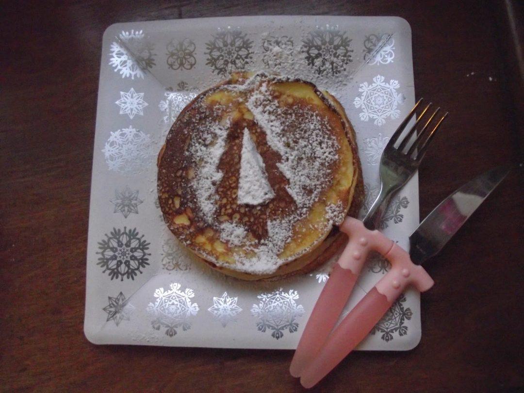Pancakes di Natale allo yogurt