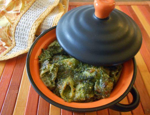 Pasticcio di pasta light con besciamella verde