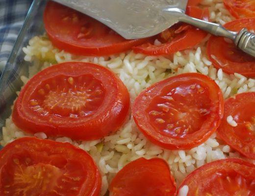 Riso al forno da crudo con verdure