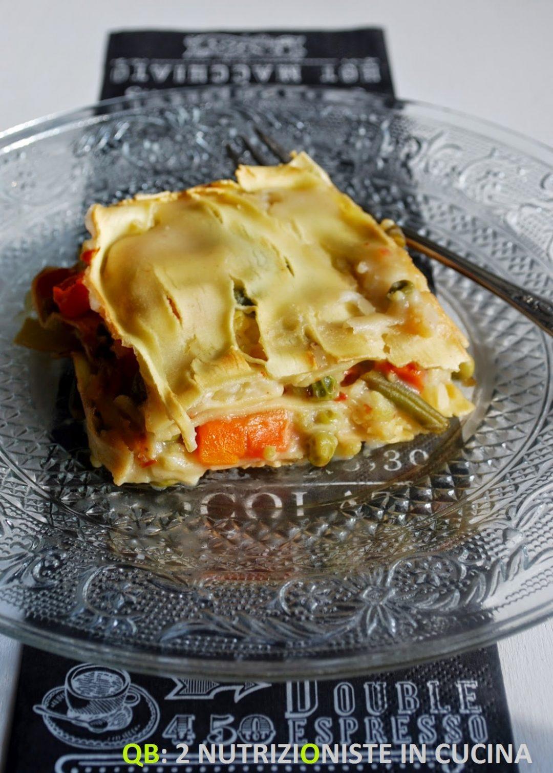 Lasagnette con verdure e besciamella di latte di riso