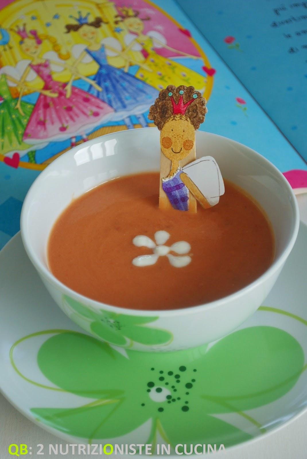 Zuppa quasi rosa per principesse