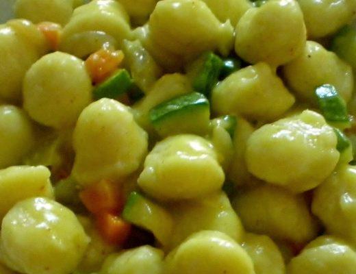 gnocchi primavera al profumo di curry