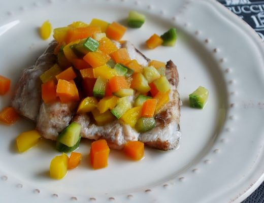Pesce spatola con verdure alla Cracco