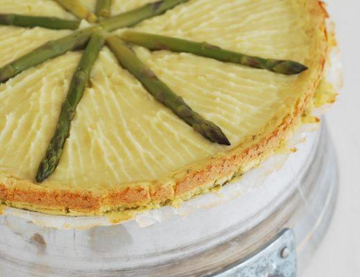 torta di patate con asparagi
