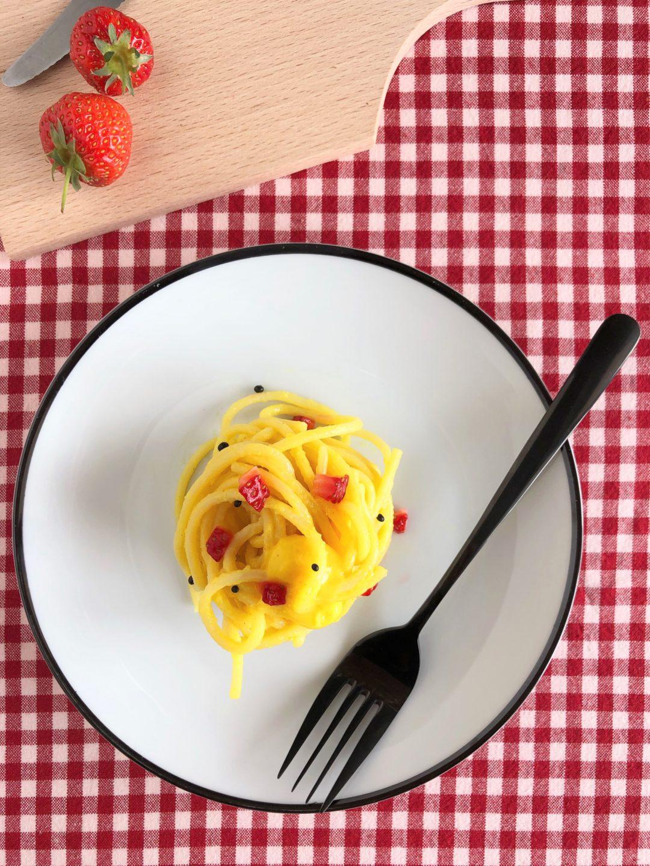 pasta carbonara dolce
