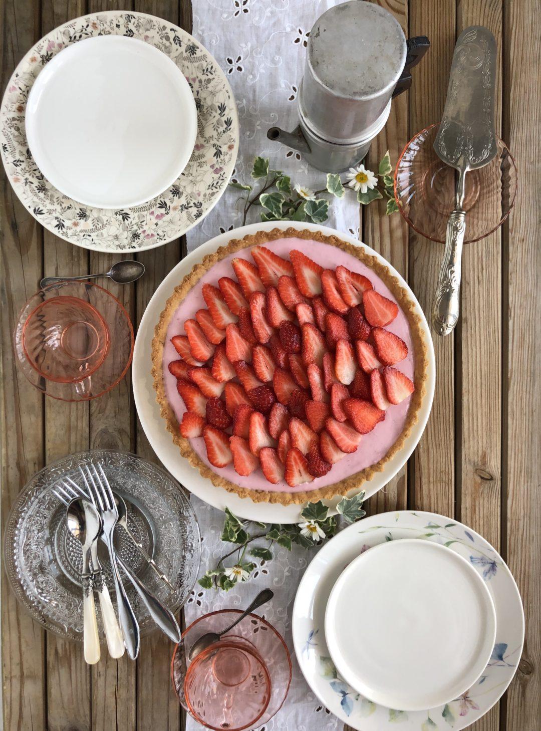 torta light di fragole