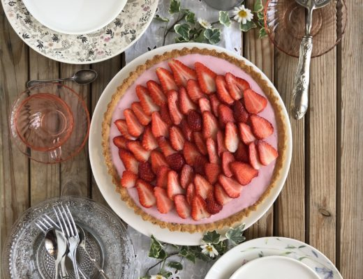 torta light di fragole