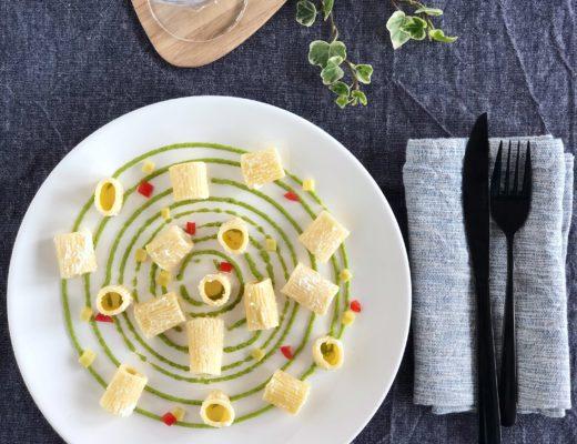 pasta alla ricotta con crema di zucchine