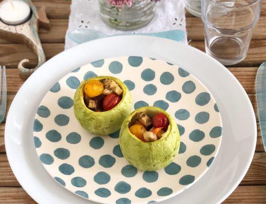zucchine rotonde ripiene verdure